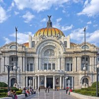 Palacio de Bellas Artes, Mexico City (Lúčnica 3.8.1973)