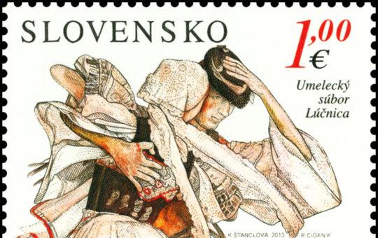 Lúčnica na poštovej známke