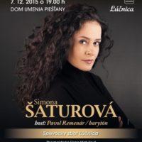 Vianočný koncert Simony Šaturovej v Dome umenia Piešťany - 7.12.2015