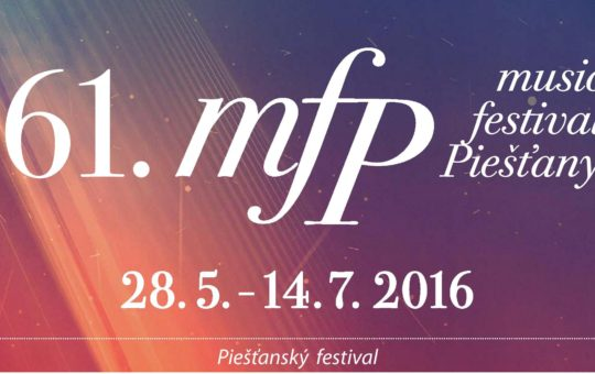 Program of the 61. music festival Piešťany