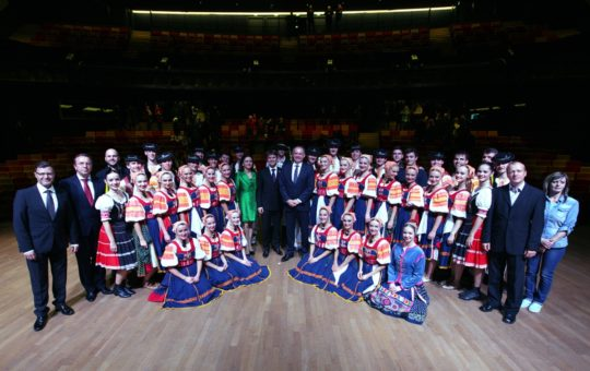 Prezident Andrej Kiska poctil svojou návštevou galakoncert Lúčnice v Paríži