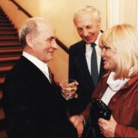 Štefan Nosáľ s Ladislavom Chudíkom a jeho manželkou.