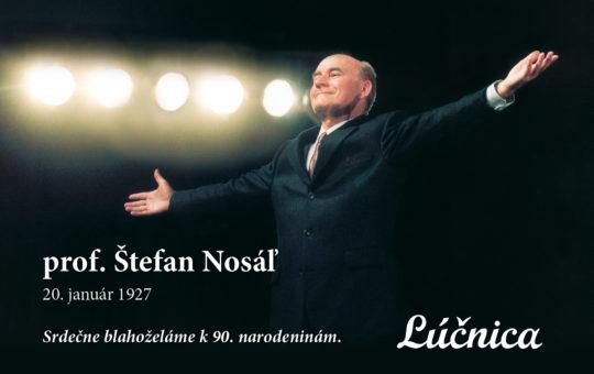 Profesor Štefan Nosáľ sa dožíva životného jubilea
