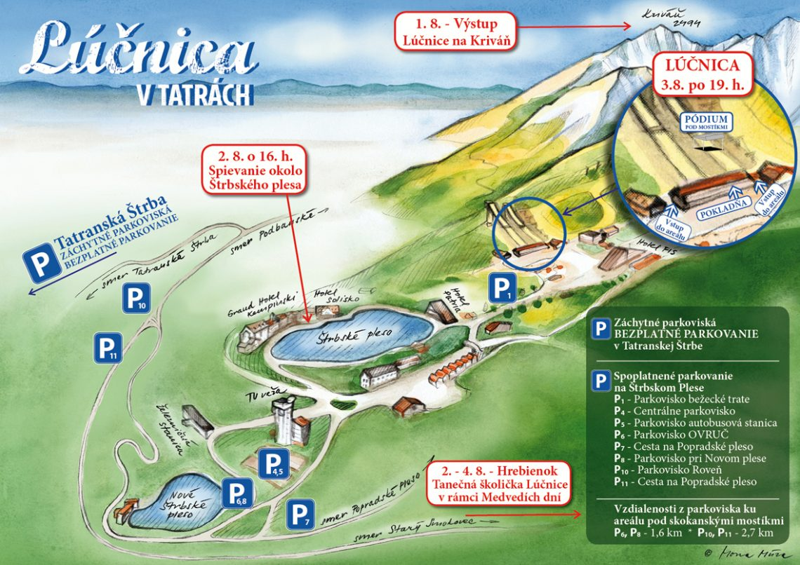 Lúčnica v Tatrách - mapka