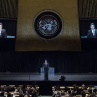 President of the General Assembly MIROSLAV LAJČÁK during United Nations Day concert