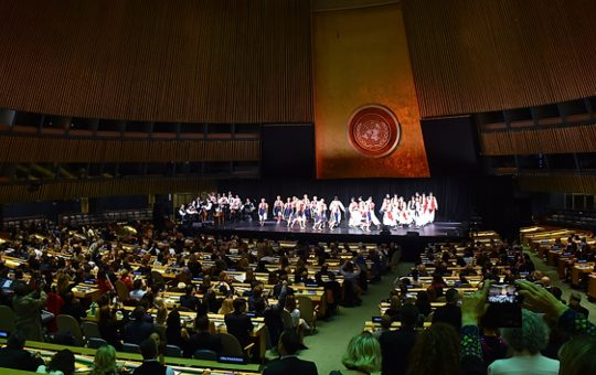 The whole world applauded Lúčnica and Slovakia at the UN in New York