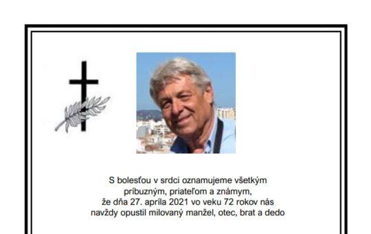 Zomrel náš bývalý kolega PhDr. Pavol Strečok
